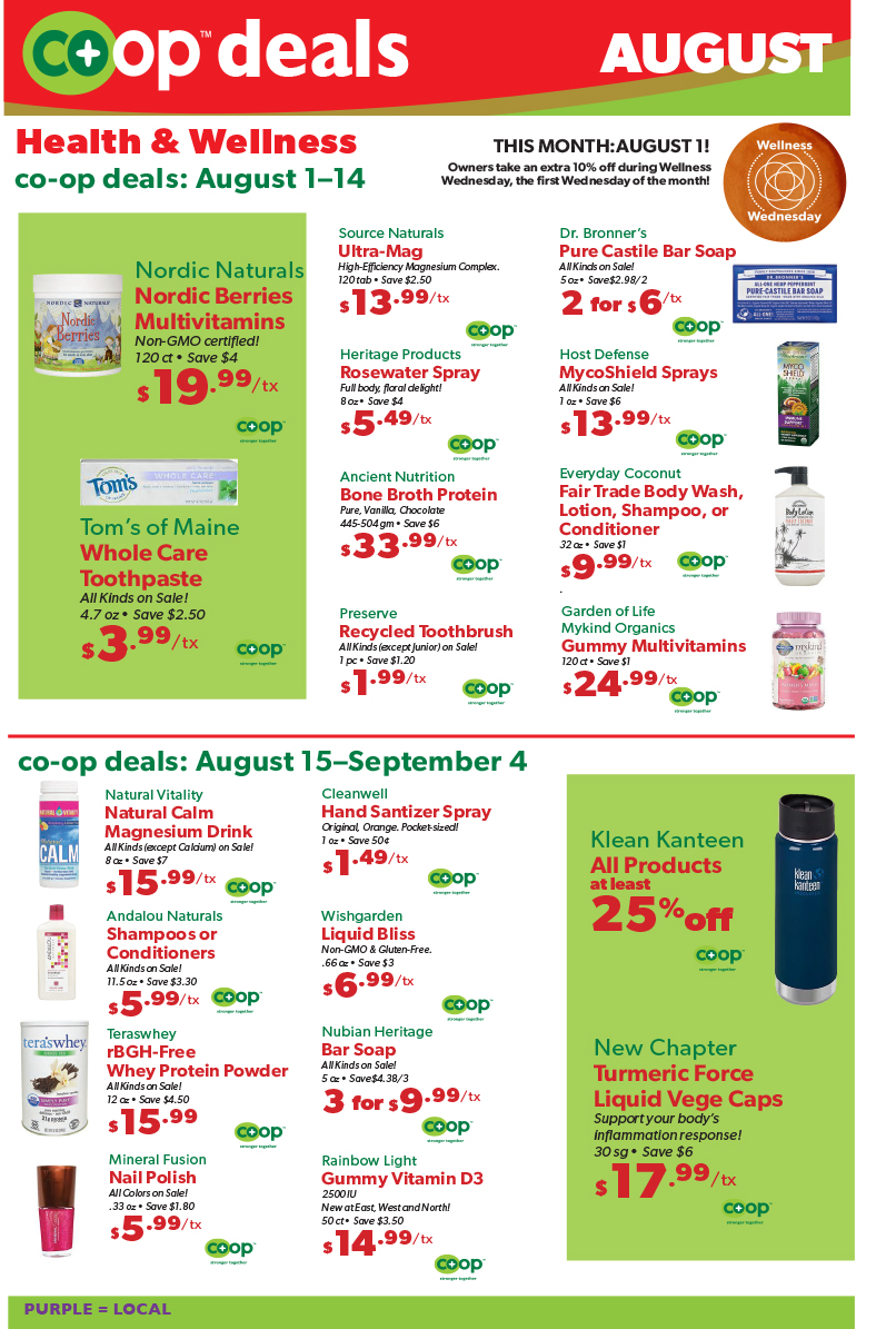 Co op deals Aug 18 1