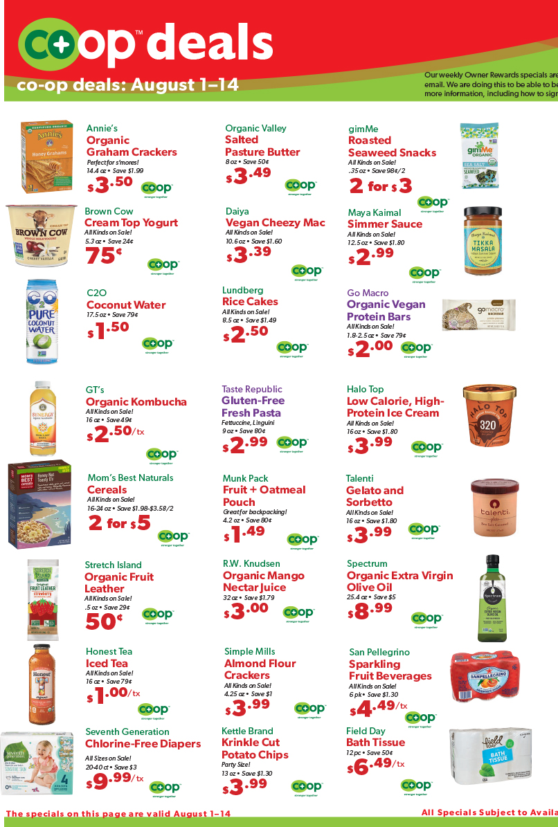 Co op deals Aug 18 2