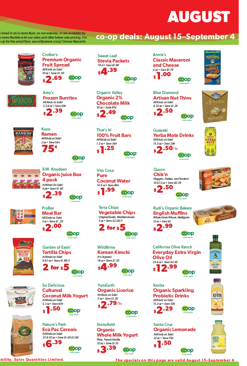 Co op deals Aug 18 3