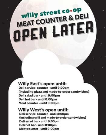 Meat & Deli open later