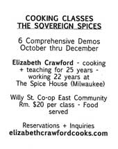 Cooking Classes: The Sovereign Spices