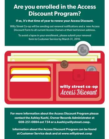 Access Discount Program