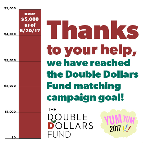 Double Dollars matching fund graphic