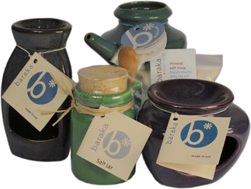 Baraka ceramic neti pots, aroma burners & salt jars. Made in the USA. | Willy Street Co-op