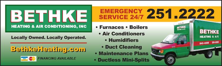Bethke Heating & Air Conditioning ad