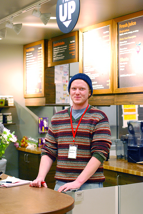 Dustin Skelley, East Juice Bar Coordinator
