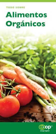alimentos organicos pamphlet