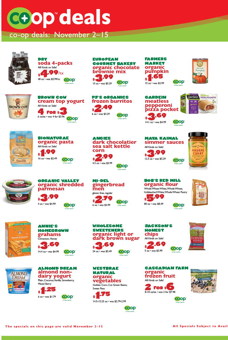 November Co-op Deals, page 2