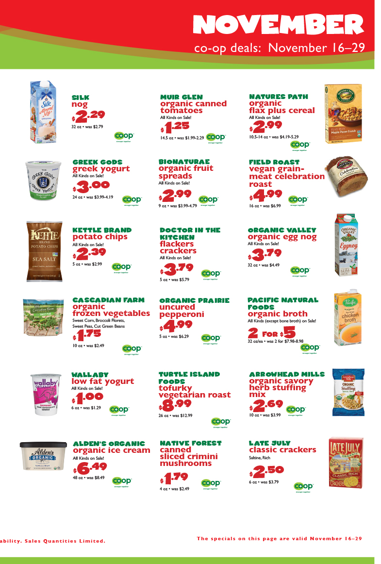 November Co-op Deals, page 3