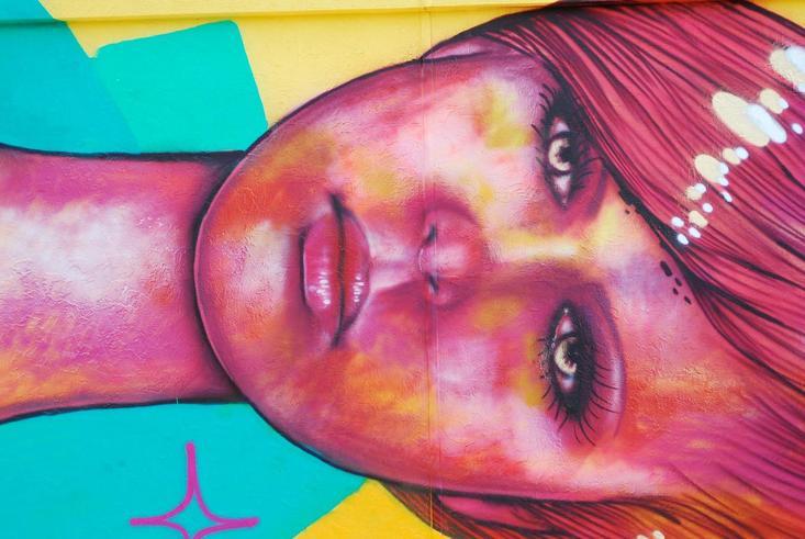 detail of Panmela Castro mural