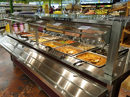 Willy North hot bar in our Deli