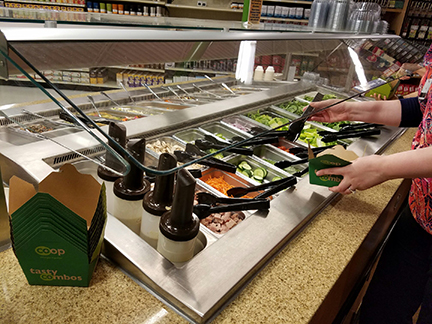 Willy North salad bar in our Deli