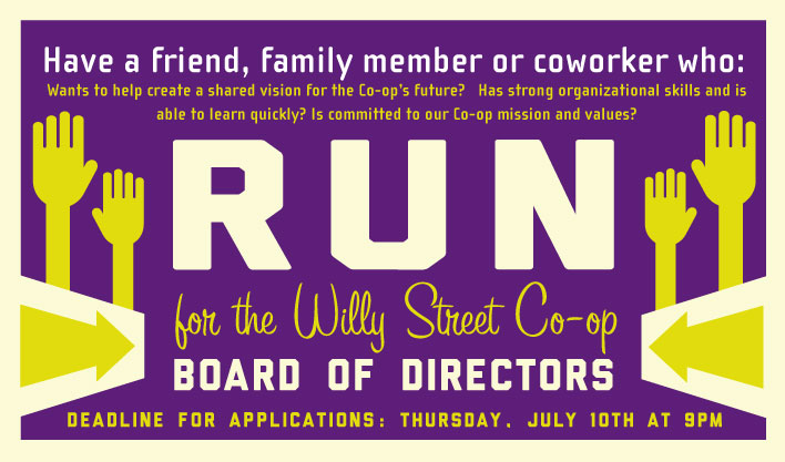 run for the Board graphic