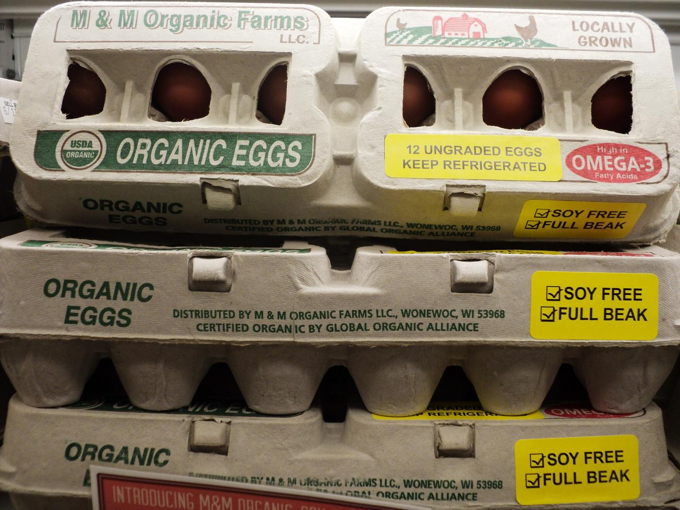 M&M Organic Farm eggs